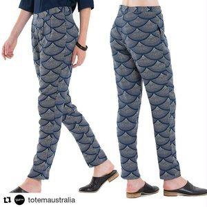 Totem 'Mosaico' Navy Mermaid Tailored Pants